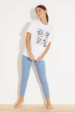 Womensecret Длинная пижама из хлопка «Минни Маус» бежевый