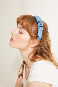 Womensecret Ободок для волос из денима с эффектом помятости голубой