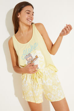 Womensecret Желтая пижама с верхом на бретелях из хлопка зеленый