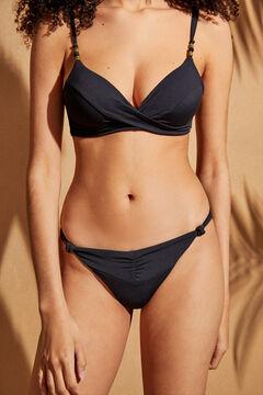 Womensecret Трусики-бикини бразилиана с узелками черный