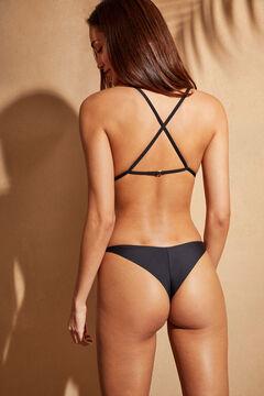 Womensecret Черный купальник-трикини с вырезами черный