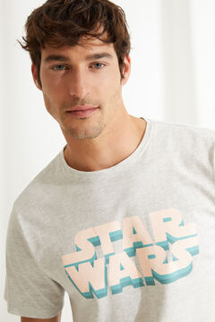 Womensecret Короткая пижама с верхом с короткими рукавами Star Wars серый
