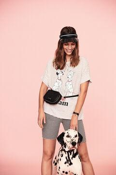 Womensecret Короткая хлопковая пижама с полосатым принтом «101 далматинец» серый