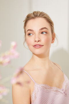 Womensecret Короткая пижама на бретелях из невероятно мягкого трикотажа розового цвета розовый