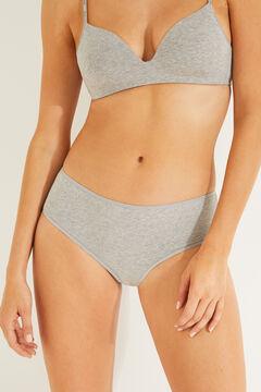 Womensecret 3 cotton panties pack серый