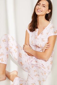 Womensecret Длинная пижама из хлопка  «Гарфилд» розовый