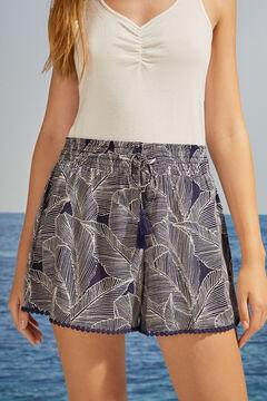 Womensecret Синие шорты с оригинальной фурнитурой бежевый