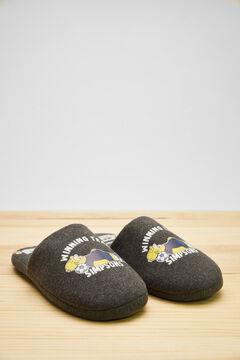 Womensecret Серые открытые домашние тапочки «Гомер Симпсон» серый