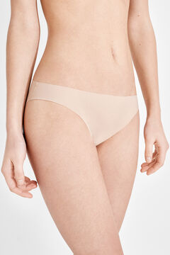 Womensecret 2 microfiber classic panties pack бежевый