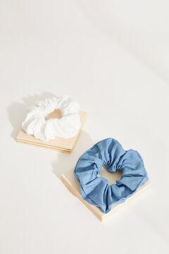 Womensecret Набор из 2 резинок для волос из денима с вышивкой. цветной