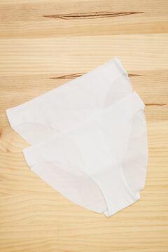 Womensecret 2 microfiber classic panties pack белый