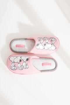 Womensecret Домашние тапочки без задника розового цвета «Снупи» розовый