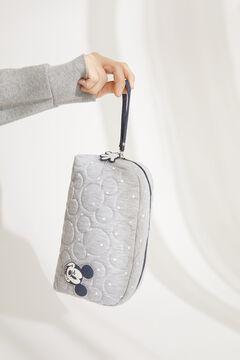 Womensecret Стеганая косметичка среднего размера серого цвета в горошек «Микки Маус» серый