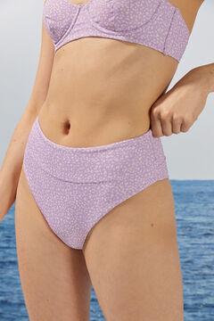 Womensecret Высокие трусики бикини с анималистичным принтом из переработанной ткани розовый