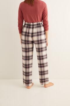 Womensecret Серые длинные пижамные брюки в клеточку цветной