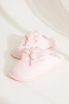 Womensecret Розовые домашние тапочки без задника с плюмети и узлом розовый