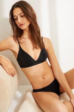 Womensecret Wireless triangular bra черный