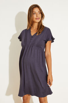 Womensecret Темно-синяя ночная рубашка голубой