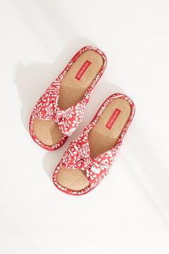 Womensecret Открытые домашние тапочки с принтом красного цвета коричневый