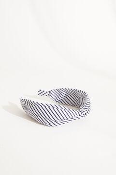 Womensecret Ободок для волос в полоску с узлом голубой