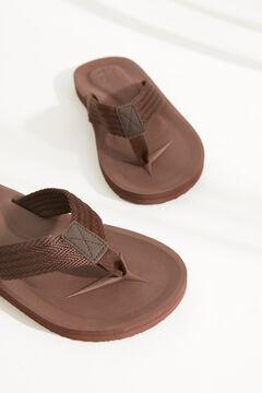Womensecret Мужские шлепанцы с ремешком для пальца коричневого цвета бежевый