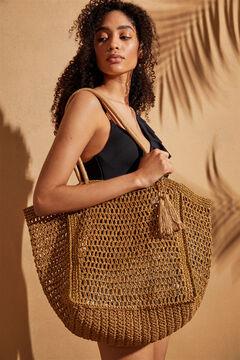 Womensecret Натуральная пляжная сумка желтый