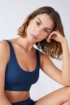 Womensecret Синий бесшовный топ голубой