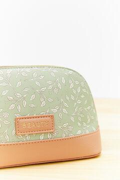 Womensecret Зеленая косметичка среднего размера с листьями зеленый