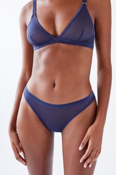 Womensecret Классические трусики из тюля синего цвета голубой