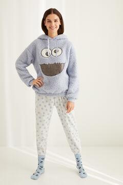 Womensecret Длинная пижама из флиса «Коржик» серого цвета голубой