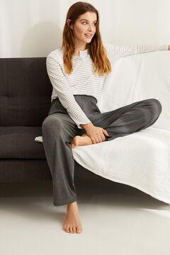 Womensecret Невероятно мягкие широкие брюки серого цвета серый