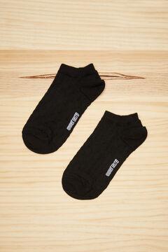 Womensecret Короткие хлопковые носки в горошек черного цвета черный