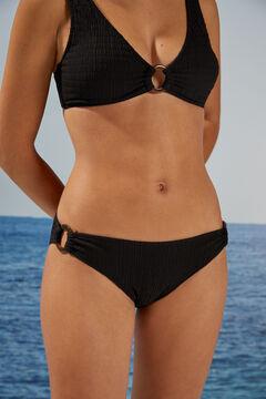 Womensecret Черные трусики бикини из экоматериалов черный