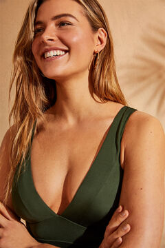 Womensecret Зеленый купальник с треугольным вырезом EXTRA SUPPORT зеленый