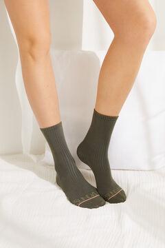 Womensecret Набор из 3 пар длинных носков разных цветов цветной