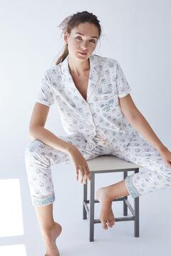 Womensecret Пижама в рубашечном стиле из экологичного хлопка розового цвета серый