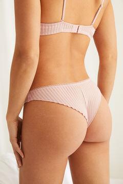 Womensecret Трусики-бразилиана с кружевными деталями розовый