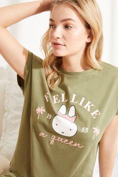 Womensecret Короткая хлопковая пижама с верхом с короткими рукавами «Миффи» бежевый