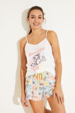 Womensecret Пижама с верхом на бретелях из хлопка бежевый