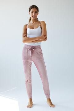 Womensecret Розовые бархатные брюки розовый
