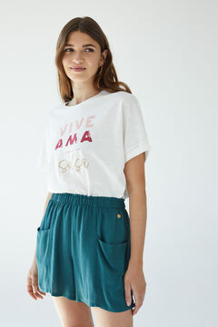 Womensecret Зеленые шорты зеленый