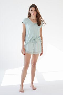 Womensecret Короткая пижама с короткими рукавами из невероятно мягкого трикотажа зеленого цвета зеленый