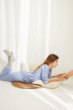 Womensecret Длинная двусторонняя пижама синего цвета голубой