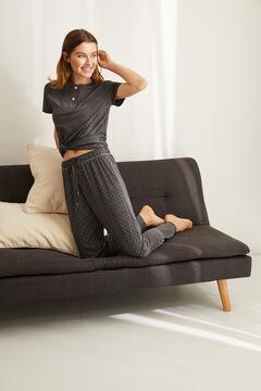 Womensecret Cерый брюки-джоггеры в горошек серый