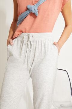 Womensecret Серые брюки-джоггеры из хлопка серый