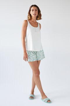Womensecret Короткая пижама с верхом на бретелях из органического хлопка бежевый
