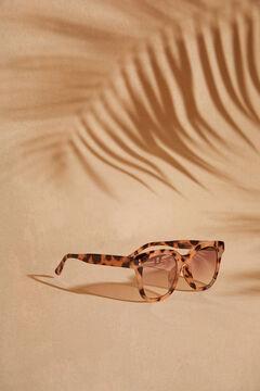Womensecret Прямоугольные солнцезащитные очки и золотистый футляр желтый