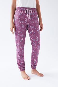 Womensecret Фиолетовые длинные брюки из хлопка коричневый