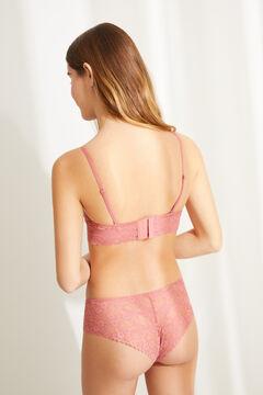 Womensecret BEAUTIFUL Розовый классический бюстгальтер из кружева с наполнителем розовый