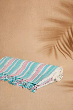 Womensecret Пляжное полотенце в цветную полоску бежевый